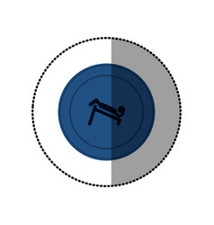 blue symbol person do exercise gym vector image vector image