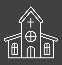 church line icon easter and holiday vector image