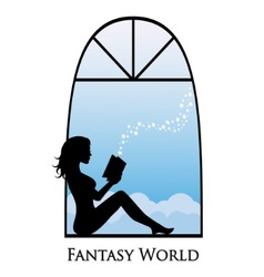 dive into the fantasy world of books vector image vector image