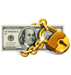 Locked dollar vector image