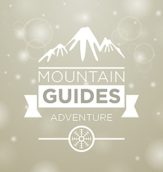 Mountain guides adventure vector image vector image