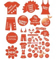 shop stickers vector image