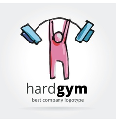 Abstract gym logotype isolated on white background vector image vector image