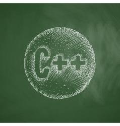 c icon vector image vector image
