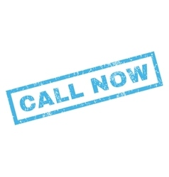Call Now Rubber Stamp vector image vector image