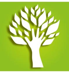 decorative hand tree vector image vector image