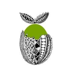 Happy Easter ornate egg for your design vector image
