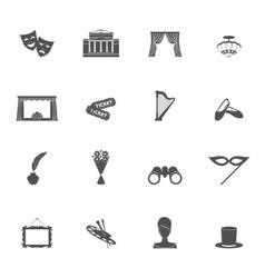 Theatre icon black vector image