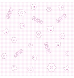Baby Girl Teddy Pattern vector image