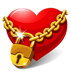 Closed heart vector image vector image
