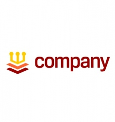 crown logo for legal company vector image