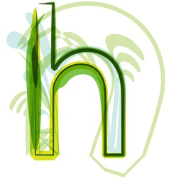 Green letter H vector image vector image