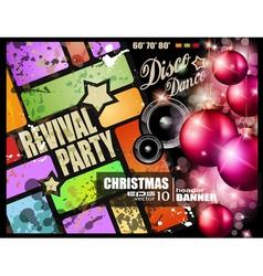 Vintage revival party vector