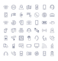 49 phone icons vector