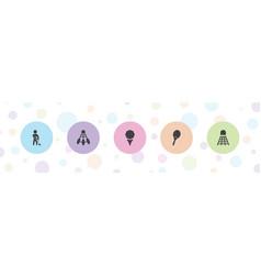 5 tournament icons vector