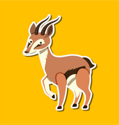 A gazelle sticker character vector
