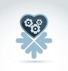a mechanical heart Love machine icon wit vector image
