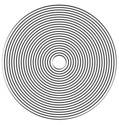 Abstract radiating contour lines vector