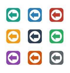 Arrow left icon white background vector