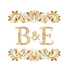 Be vintage initials logo symbol letters b vector