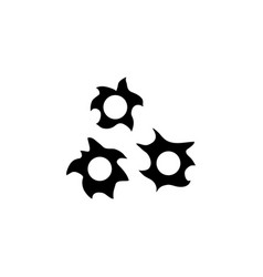 bullet hole flat icon vector image