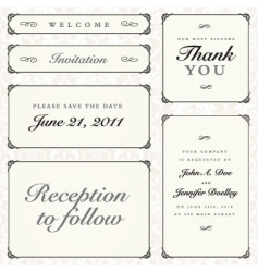 calligraphy frames vector image