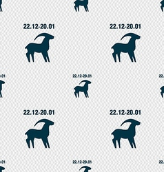 Capricorn sign Seamless pattern with geometric vector