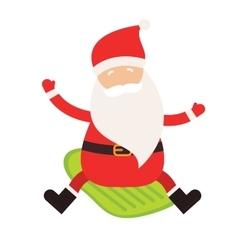 Cartoon extreme Santa winter sport vector