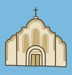 catholic church icon hand drawn style vector image