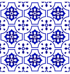 Ceramic pattern blue and white vector