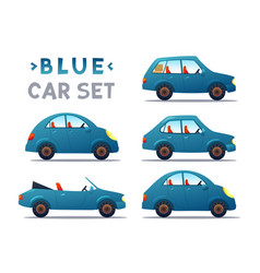 City cars set vector