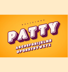 cool and funny english alphabet letters vector image