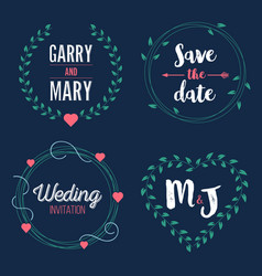 Creative of save the date vector