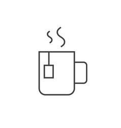 cup tea outline icon vector image
