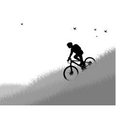 cycling woman vector image