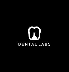 Dental lab logo design concept vector
