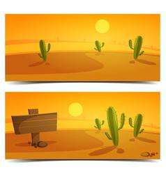 Desert banners vector