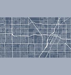 Detailed map las vegas city linear print map vector