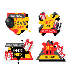exclusive products hot sale discounts offers vector image