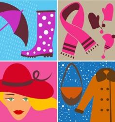 fashion design elements vector image