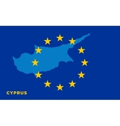 Flag of European Union with Cyprus on background vector