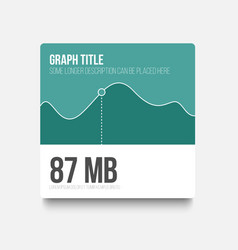 flat user interface ui of graph vector image