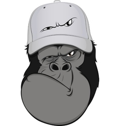 Funny monkey hat vector