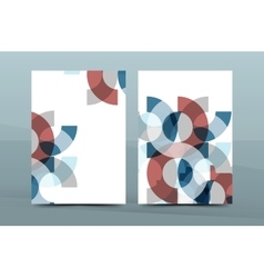 Geometric design A4 size cover print template vector image