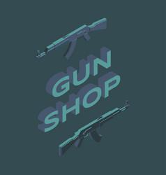 gun shop social media banner template ammunition vector image