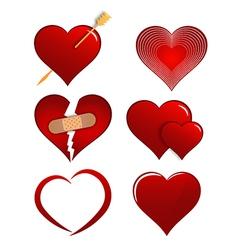 Heart Designs Set for Valentines vector image