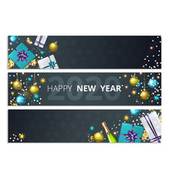 holiday banners christmas new year party flyers vector image