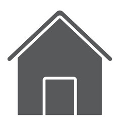 home glyph icon house and building button sign vector image