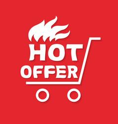 hot offer banner vector image