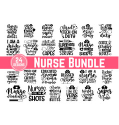 Huge nurse bundle 24 svg files for cutting mach vector